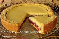 Kuchen: South Dakota's State Dessert! | Cranberry Cheese Kuchen Recipe