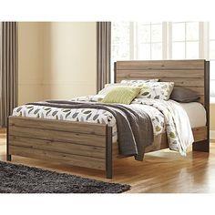Dexifield Queen Bed Frame - Beige Brown - Ashley Furniture | Milan Direct