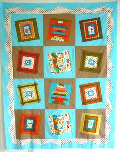 a thread from the edge: Jackson's Quilt - After a Dose of NyQuilt