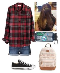 """Exact outfit for tomorrow!!😱😊"" by cheri-anne-g ❤ liked on Polyvore featuring Joe's Jeans, Madewell, Converse, Rip Curl, Nalgene, Vineyard Vines, Southern Proper and Chaco"