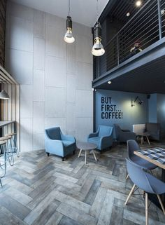 loft interior design idea - Best Home Decorating Ideas - Easy Interior Design and Decor Tips Coffee Shop Design, Cafe Design, House Design, Coffee Shop Interior Design, Store Design, Design Design, Design Commercial, Commercial Interiors, Loft Interiors