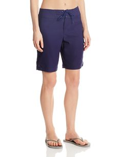 a060673328 JAG Women's Solid Swim Long Board Shorts at Amazon Women's Clothing store:  Best Women's Swimsuits