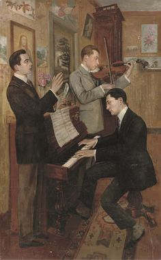 ♪ The Musical Arts ♪ music musician paintings - Hans Temple | The Concert