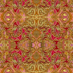 Channeling William Morris Part 1 fabric by edsel2084 on Spoonflower - custom fabric
