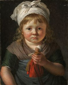 Little Peasant Girl with a Doll, (date unknown) Anne-Louis Girodet de…