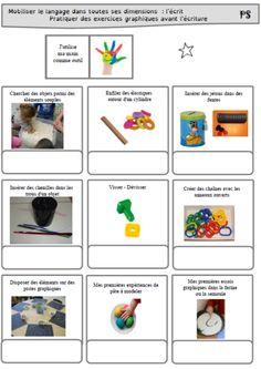 Ateliers PS-MS préparer le geste graphique