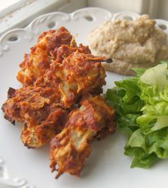 Vegan Cauliflower BBQ Wings with Cashew Blue Cheese Dip - If there were a bar that served this alongside it's normal bar food, I would be there often. #vegetarian #recipes #appetizers