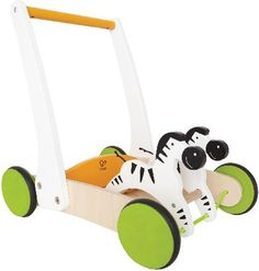 Hape Galloping Zebra Cart This balanced walker provides a sturdy base for pulling up and a unique design that makes pushing a breeze. Nodding zebras lead the way.... (Barcode EAN=6943478003408) http://www.MightGet.com/january-2017-12/hape-galloping-zebra-cart.asp