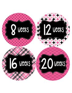Pregnancy Baby Bump Week Stickers Maternity Expectant Mother Sticker | Months In Motion