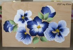 one stroke painting by Elke  small wooden box
