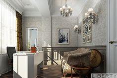 Дизайн кабинета   Дизайн кабинета мы постарались сделать максимально комфортным для его владельца. Здесь нашел свое место стол с большим количеством отдельных ящиков, а так же уютный диван. 0(555)290011 ☎️