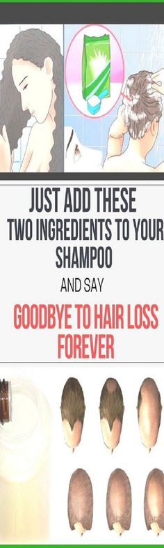 Mix These Two Ingredients Together And Add Them To Your Shampoo And Reduce Hair Loss!