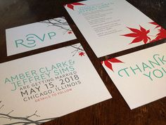 Wedding Invitation, RSVP Card, Save the Date, and Thank You Card DIY Printable PDF Set