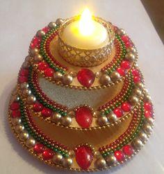 Diwali Sale, Diwali Diya, Diwali Craft, Arti Thali Decoration, Ganapati Decoration, Diy Diwali Decorations, Festival Decorations, Old Cd Crafts, Acrylic Rangoli