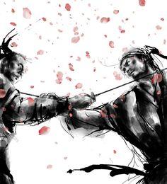 """The Samurai Bushido Code (Japanese """"way of the warrior"""", or bushido), was the warrior code of the samurai. http://www.taringa.net/posts/imagenes/13303320/samurai-art_.html"""