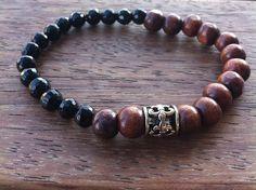 Zaire Bracelet by nunKI // Gemstone & Wood // #Menswear #Pulseirahomem #bijutariahome #bijoumen