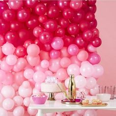 Ombre Pink Balloon Wall – The Original Party Bag Company