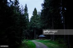 MASSERBERG, GERMANY - MAY 08: Mountain hut along the hiking... #masserberg: MASSERBERG, GERMANY - MAY 08: Mountain hut along… #masserberg