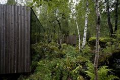 Image 13 of 33 from gallery of River Sauna / Jensen & Skodvin Architects. Courtesy of Jensen & Skodvin Architects Scandinavian Architecture, Architecture Art Design, Minimal Architecture, Organic Architecture, Contemporary Architecture, Small Spa, Landscape Arquitecture, Wooden Facade, Nature View