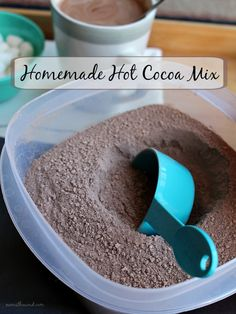 Homemade Hot Cocoa Mix - For when you want rich, creamy hot chocolate but don't have time to make the fancy stuff. This mix is made of simple ingredients but has all the creaminess and chocolate you could ask for!