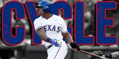 Adrian Beltre hits for the cycle August 3, 2015...3rd cycle & all done at Rangers' Ballpark!