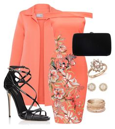 Orange Sherbet Evening by draig-wenci on Polyvore featuring polyvore, fashion, style, D.Exterior, Dolce&Gabbana, Sergio Rossi, Red Camel, Bloomingdale's, Kate Spade and clothing