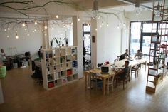 Betahaus in Hamburg, Germany - Betahaus is one of the most famous coworking places in German and even in Europe, where I am visiting this April. Its open spaces and bright atmosphere is a result of the balanced mixture of Vienna-style cafe + library + home office + campus!