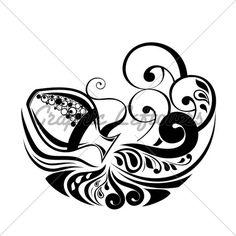 Zodiac Wheel With Sign Of Aquarius.Tattoo Design.
