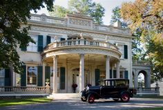 """""""Montgomery Place""""  Annandale-on-Hudson, NY  Architect Alexander Jackson Davistransformed a c. 1805 Federal house into a Neoclassical villa in the 1840s."""