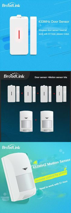 New Broadlink S1c  Accessories Alone Sensor SmartONE Smart Home Sensor Contorls in Sensors Connected By IOS and Android