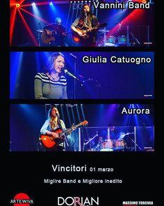 #palermo #dorianmusiccontest #vncitori della serata #finalisti