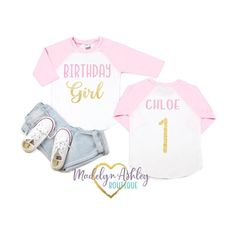 Pink and Gold Glitter Birthday Girl Shirt - Girl Birthday Shirt - Girl Birthday - Birthday Shirt - Birthday Girl - Birthday Shirt For Girl  Ages 1-5 available  This Sweet Birthday Shirt will be an adorable detail to your little girls Special Day. Your daughter will be extra adorable in this darling First Birthday Shirts, Girl Birthday, Glitter Birthday, Shirts For Girls, Gold Glitter, Special Day, Pink And Gold, First Birthdays, Little Girls