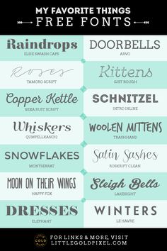 A roundup of free fonts for everyday design, including 14 of my go-to favorites. Everything you need to create perfect font combos right here.