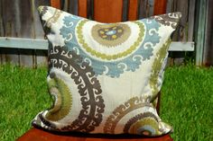Designer Suzani Fabric Pillow Cover  18X18 by ParKenDesigns, $40.00