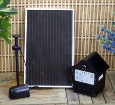 3 Watt Solar Powered, Garden, Outdoor Water Pump Kit with Battery & LED . $108.99. Fast & easy install Energy, electrical saving. This solar powered water pump is designed for fountains, ponds or other outdoor use. has the ability to work during the night.. Recharged by solar panel under sunlight Corrosion resistant. Sun Powered No Wiring CE certified. With the battery pack attached, a full charge during the day can provide up to an additional 4 hours of operation, an...