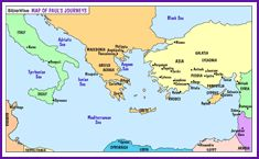 Image result for paul's missionary journeys