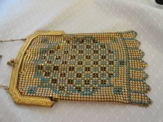 1920s Whiting & Davis Gold Mesh Flapper Bag. by BBGIMAGINATIONS