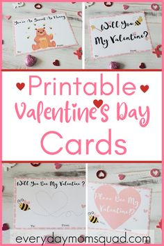 Printable Valentine's Day cards for kids to give to their friends at their Valentine's Day party at school. #vdaycards #printablevalentine'sdaycards #Valentinesdaycards Educational Activities For Kids, Learning Resources, Fun Learning, Preschool Activities, Teaching Kids, Activities For Girls, Crafts For Boys, Kid Crafts, Family Activities