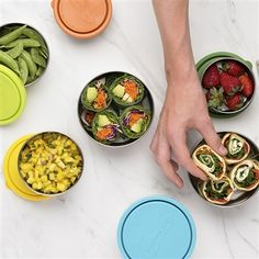 Reusable lunch containers including bento lunch containers, divided containers and reusable snack containers to meet the needs of everyone in the family. Stainless Steel Lunch Containers, Healthy Packed Lunches, Container Shop, Lunch To Go, Food Storage Containers, Plastic Containers, Lime, Snacks, Zero Waste
