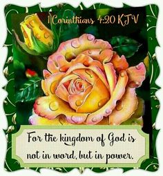 1 Corinthians 4:20 KJV