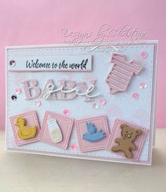 Flowers, Ribbons and Pearls: Baby Occasions - Baby Girl Card