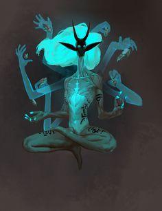 Ktaren, seres que se conectam com o éter, o outro plano.