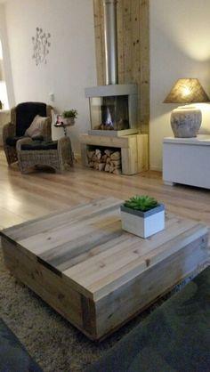Salontafel van grenenhout