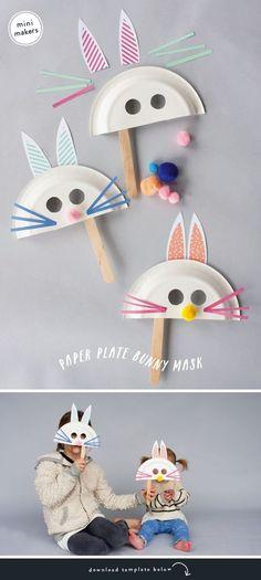 Hazen maskers maken van papieren borden door Rae Ann Kelly