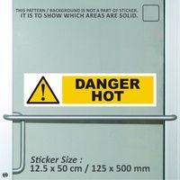 sticker safety sign K3 bekasi murah danger hot WSL