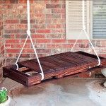 Would LOVE to have this recycled-wooden-pallet swing, but I'm not sure that I'm handy enough to create it