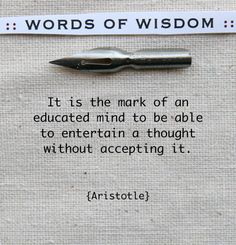 Aristotle - yes, but then come up with a fair critique . . .