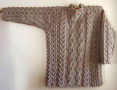 Ravelry: Geghard Cabled Sweater pattern by Irina Poludnenko