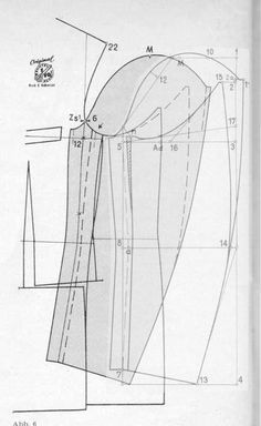 Drafting the sleeve head according to the armhole