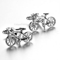 Men's Cuff Links - 3D Bicycle Bike Cycling Silver Colored  Weddings / Everyday / Gift Business Shirts, Cycling Bikes, Gucci Men, Wedding Men, Cufflinks, Bicycle, Lettering, Tie Clips, Color